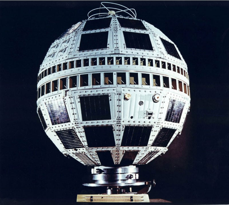 Image of the Telstar 1 satellite. Photo: NASA, Bell Labs