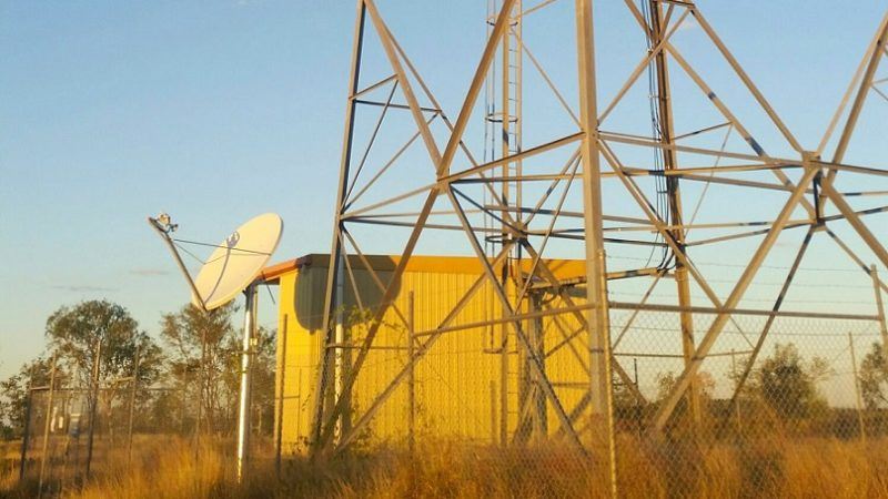 Telstra Satellite Small Cell antenna in remote Australia