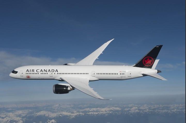Air Canada Wi-Fi provided by Gogo