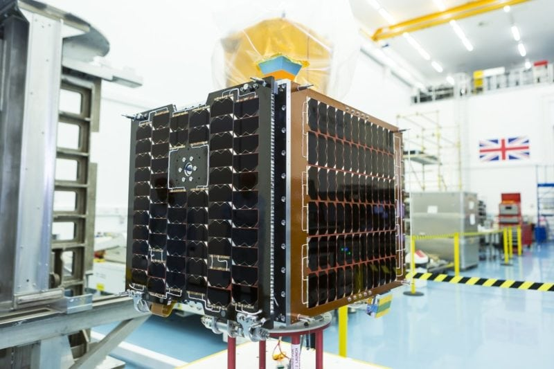 The UK's Royal Air Force launched its first small satellite, Carbonite-2, in January 2018. Photo: SSTL