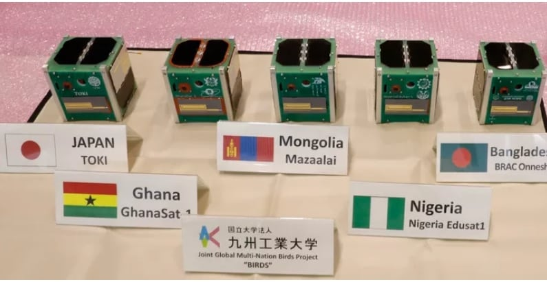 Cubesats made by participating countries under the Birds Project