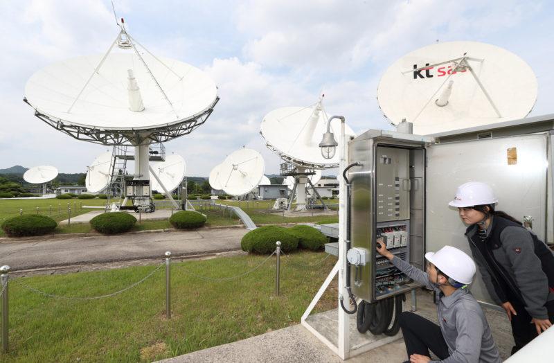 KT-SAT antennas