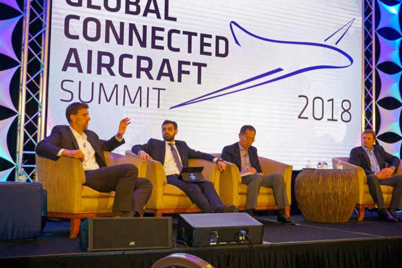 Panelists at the 2018 Global Connected Aircraft Summit.