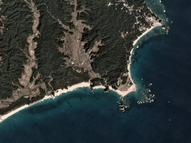 Planet satellite imagery of a coast in Japan. Photo: Planet