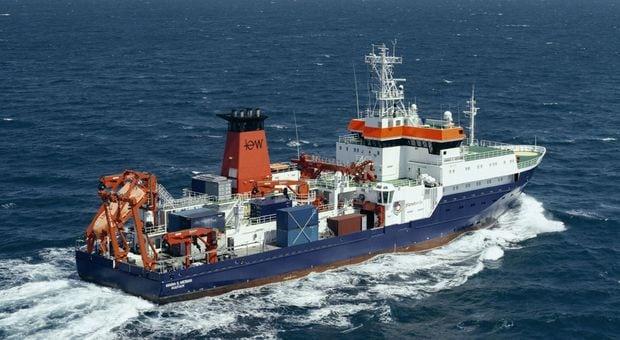 Research vessel Maria S. Merian. Photo: Briese Schiffahrts.
