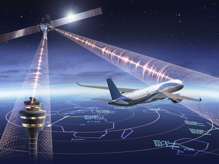 Artist rendition of Iris satellite-based communication system. Photo: European Space Agency