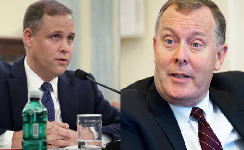 Jim Bridenstine (left) and James Morhard (right).