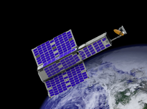 Artist rendition of Orbital Micro Systems Microwave Sensor Satellite. Photo: Orbital Micro Systems
