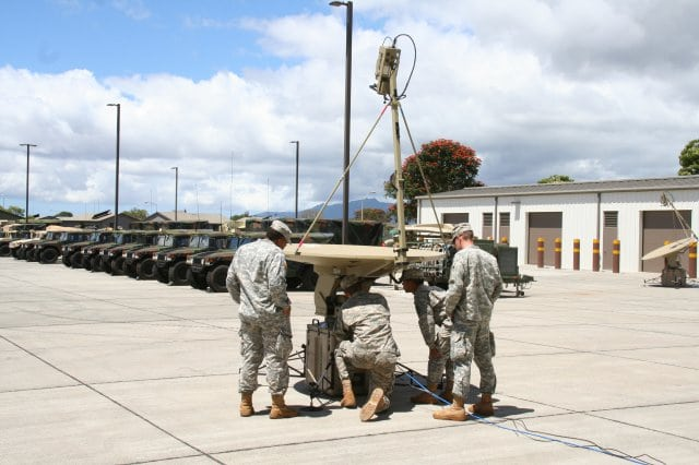 U.S. Army soldiers practice troubleshooting procedures during new equipment training for SNAP SIPR and NIPR. Photo: U.S. Army