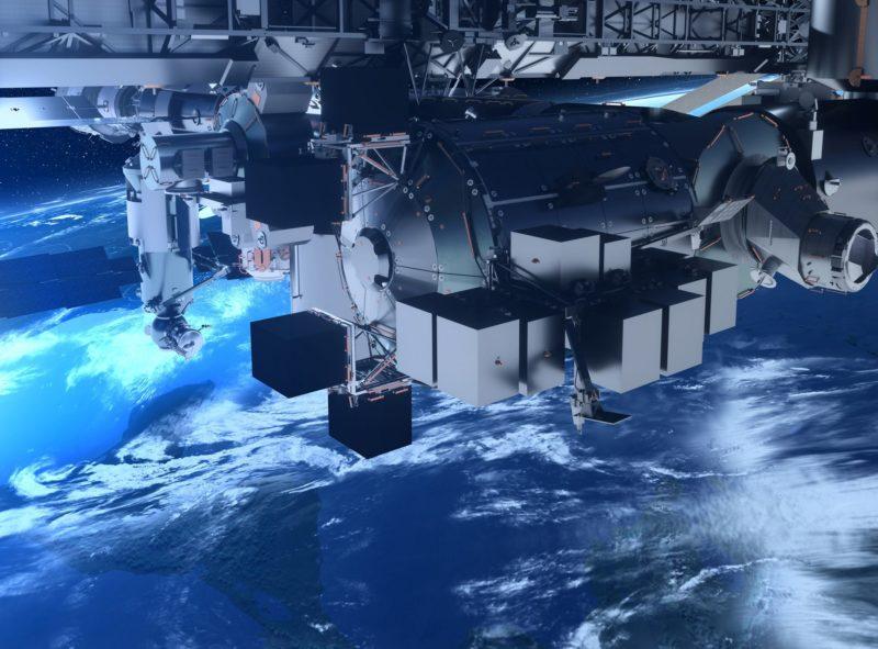 Artist rendition of Bartolomeo platform on the International Space Station.