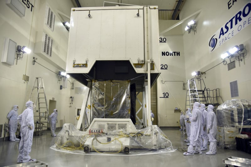 NASA''s ICESAT-2 spacecraft arrives at the Astrotech Space Operations facility at Vandenberg Air Force Base in California. Photo: U.S. Air Force/Vanessa Valentine (PRNewsfoto/NASA)
