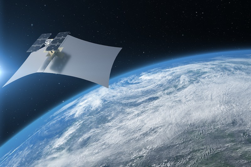 An artist rendition of a Capella SAR satellite. Photo: Capella