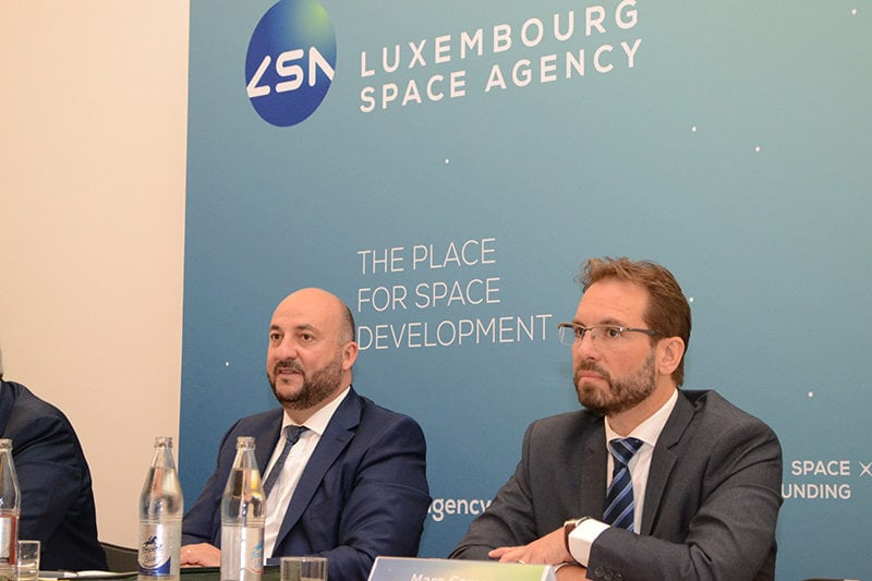 Deputy Prime Minister and Minister of the Economy of the Grand Duchy of Luxembourg Étienne Schneider, and Luxembourg Space Agency CEO Marc Serres. Photo: Business Wire