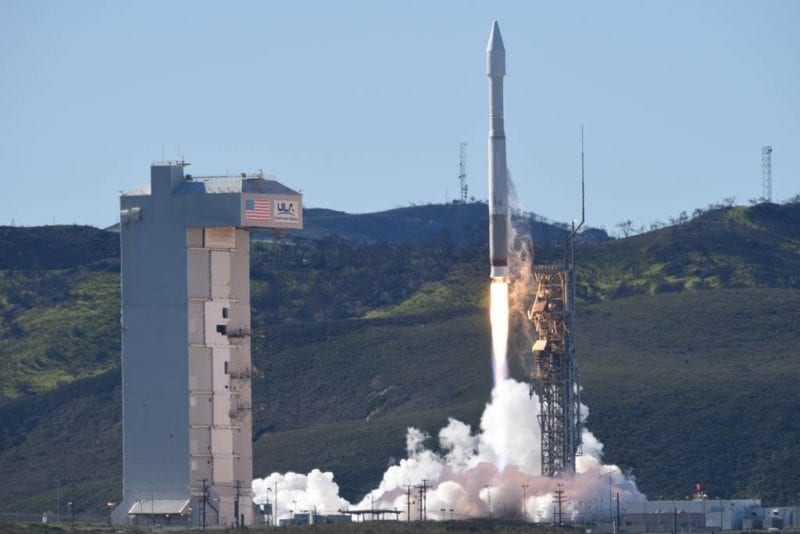 Atlas V rocket lifting off with NRO payload from Vandenberg, AFB on March 1. Photo: 30th Space Wing