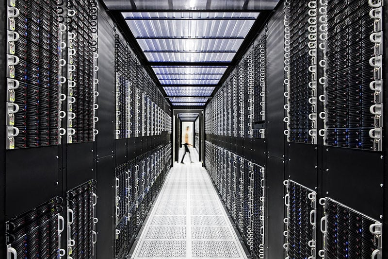 Inside an IBM Cloud Data Center. Photo: Connie Zhou for IBM