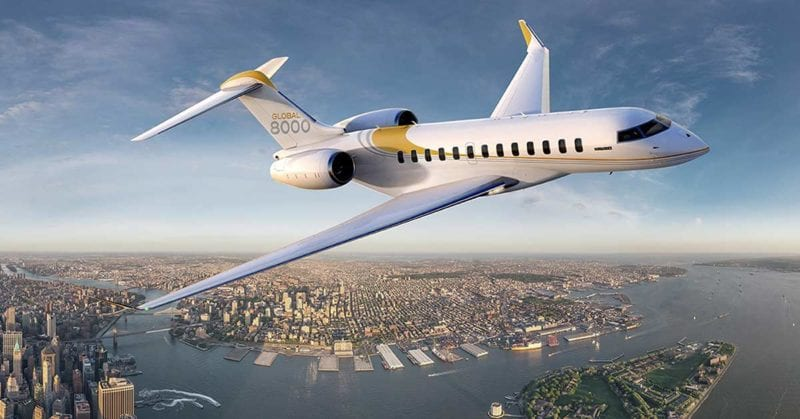 Bombardier Global 800 aircraft. Photo: Bombardier Business Aircraft
