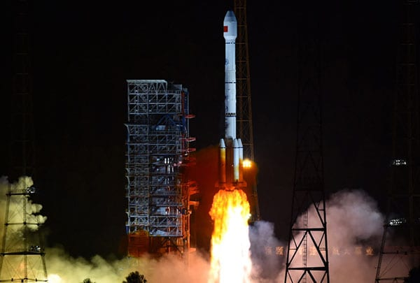 A Long March-3B carrier rocket launching from Xichang Satellite Launch Center in China, carrying a BeiDou-3 satellite. Photo: Xinhua News Agency