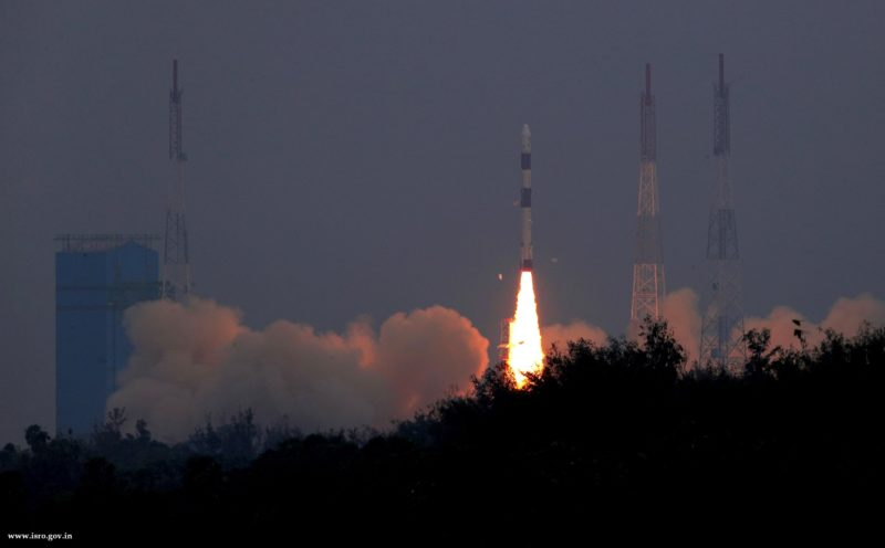 The Indian Space Research's Organizations PSLV-C43 mission lifting off. Photo: ISRO