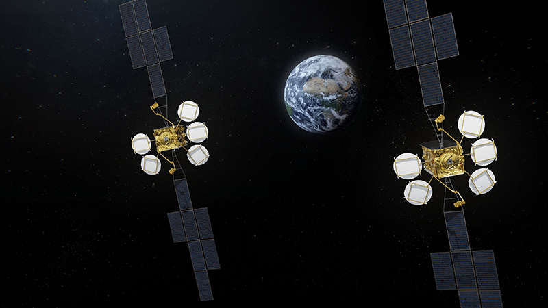 Artist Rendition of next generation Hotbird satellites. Photo: Airbus