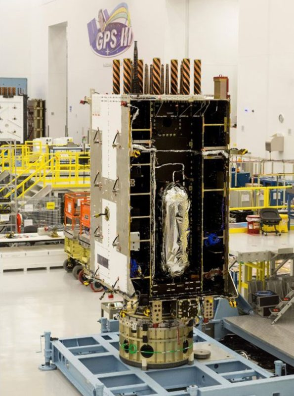Lockheed Martin's fourth GPS III satellite, GPS III SV04. Photo: Harris