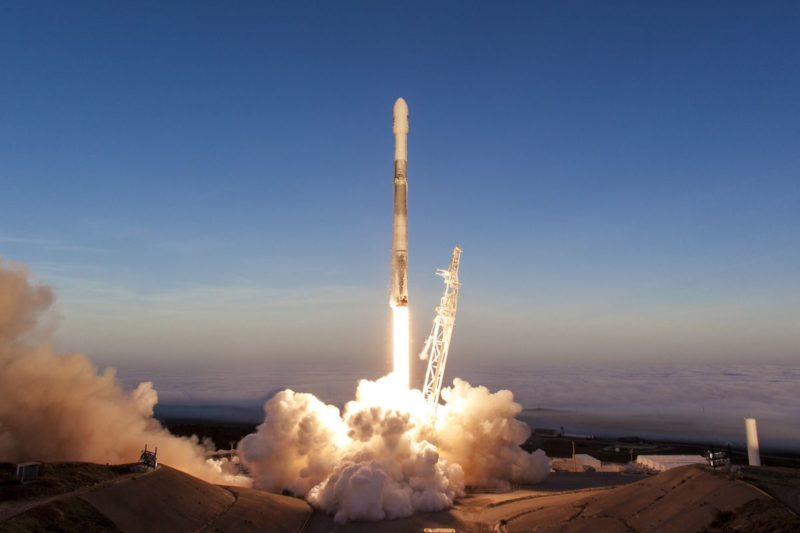 A SpaceX Falcon 9 rocket taking off from Vandenberg Air Force Base. Photo: SpaceX