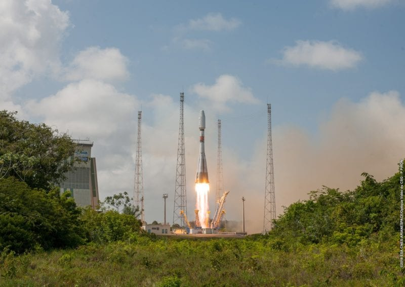 Arianespace's Soyuz rocket lifting off from Guiana Space Center on Dec. 19. Photo: Arianespace