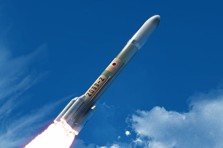 Artist rendition of MHI H3 rocket. Photo: JAXA