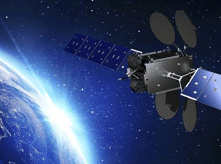 Artist rendition of an Ovzon satellite. Photo: Ovzon