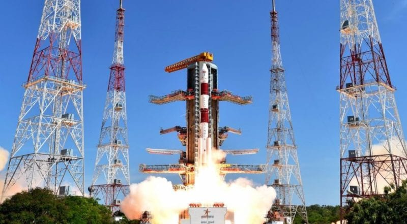 An ISRO Polar Satellite Launch Vehicle (PSLV) lifting off. Photo: ISRO