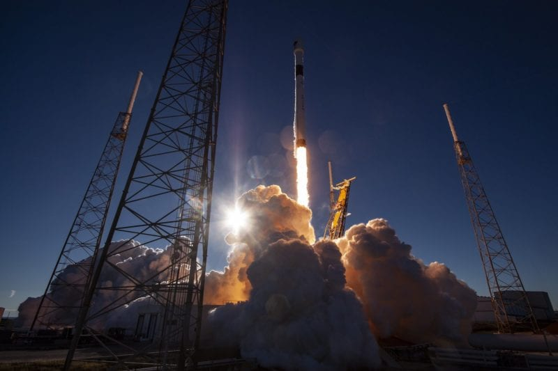 SpaceX's Falcon 9 rocket carrying Lockheed Martin's GPS III satellite for the U.S. Air Force. Photo: SpaceX