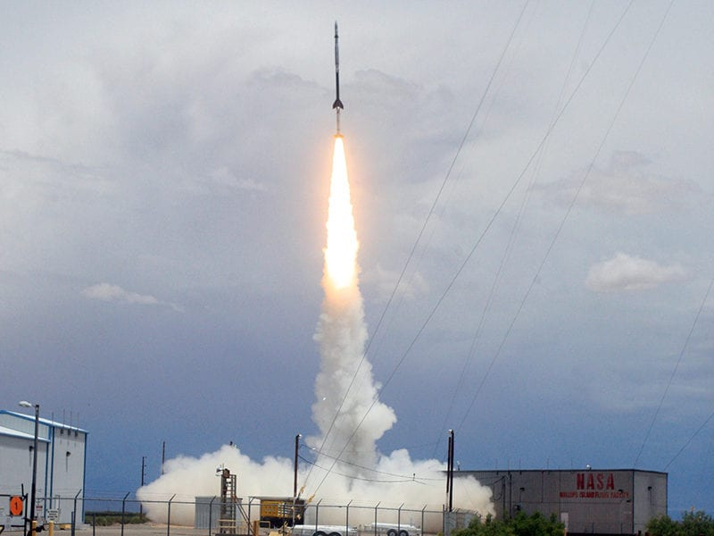 UE Terrier-Black Brant sounding rocket launching from White Sands Missile Range, NM. Photo: NASA
