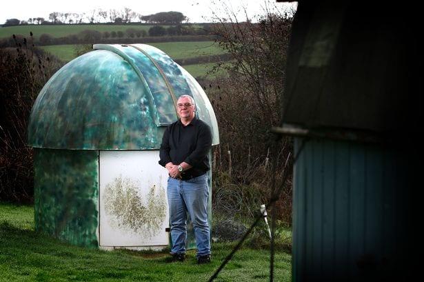 Grant Mackintosh at Tolcarn Observatory. Photo: Avanti Communications