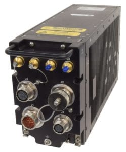 Hughes Defense HM400 is a specialized, software-defined multiband satellite modem to support the General Atomics Aeronautical Systems, Inc. SkyGuardian Remotely Piloted Aircraft. Photo: Hughes Network Systems