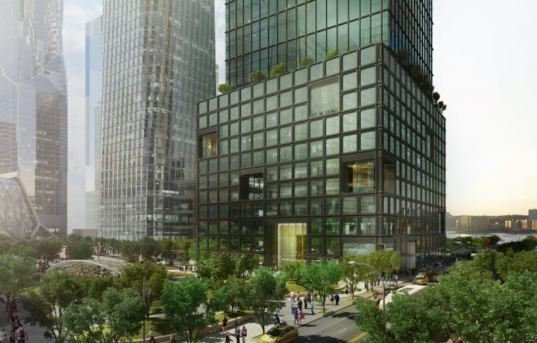 Artist rendition of Milbank's new New York City headquarters. Photo: Related Companies