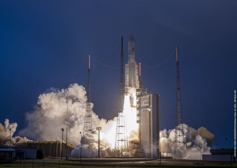 Arianespace launching an Ariane 5 rocket from French Guiana on Feb 5. Photo: Arianespace