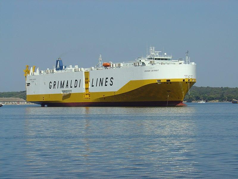 A Grimaldi Grande Detroit vessel. Photo: Telespazio