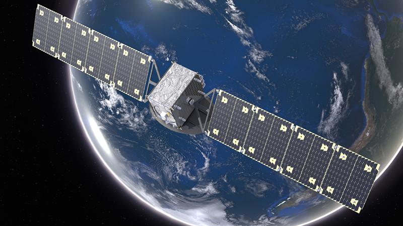 Artist's rendering of an Astranis satellite. Photo: Astranis