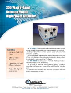 Comtech Xicom Q and V-Band High Power mmWave TWTAs