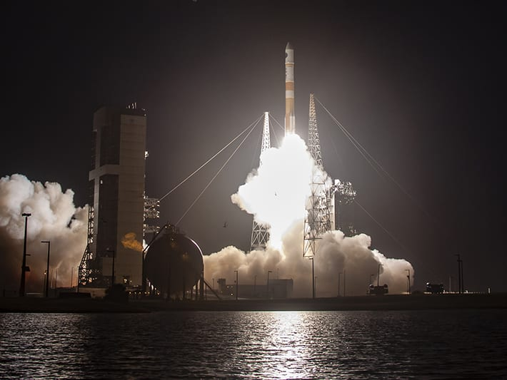 A ULA Delta IV lifting off, carrying the WGS-10 satellite. Photo: ULA