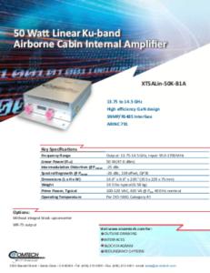 Comtech Xicom GaN SSPAs and BUCs for Airborne Global Connectivity