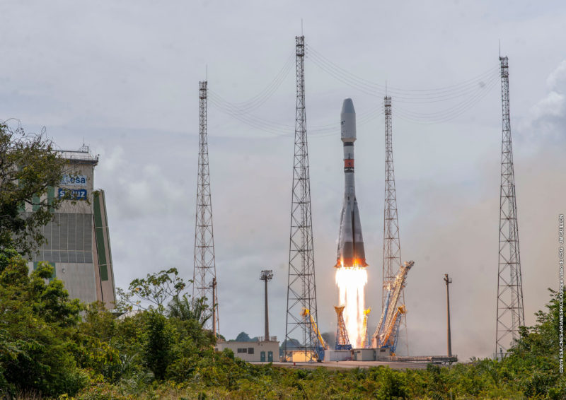 Arianespace launching a Soyuz rocket carrying SES O3b satellites. Photo: SES