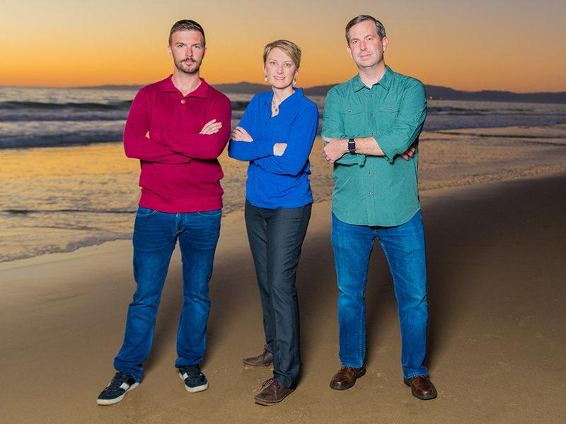 Slingshot Aerospace founders Thomas Ashman, Melanie Stricklan, David Godwin. Photo: Slingshot Aerospace