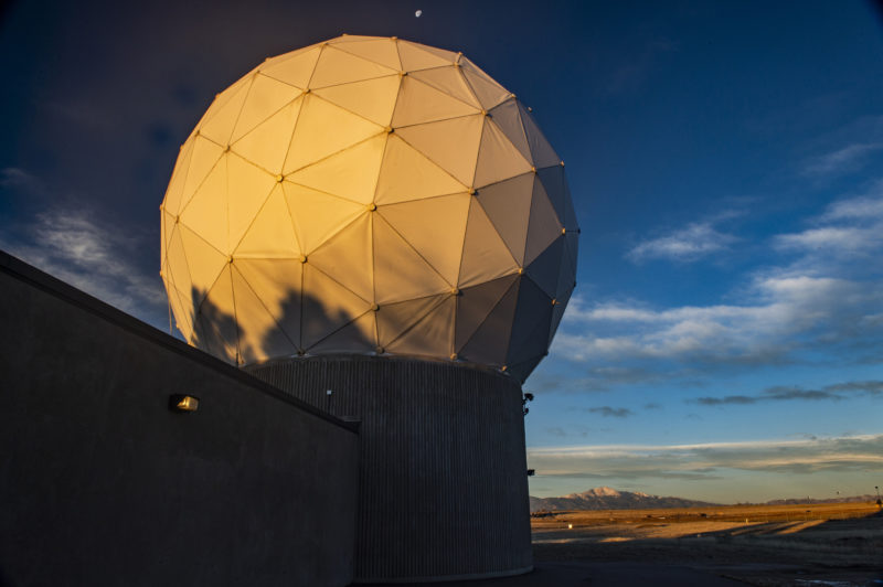 GPS ground antenna at Schriever Air Force Base, home of the 50th Space Wing. Photo: Raytheon