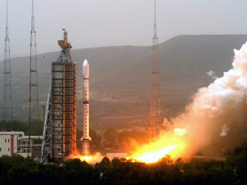 One of China's a Long March-4C rockets launches from the Taiyuan Satellite Launch Center in northern Shanxi Province on May 27, 2008. Photo: Shen Hong/Xinhua via AP