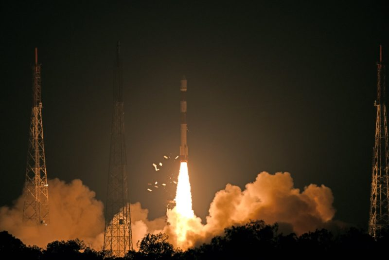 India launching its PSLV. Photo: ISRO