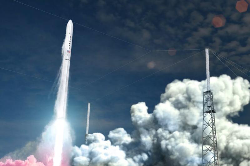Artist rendering of Relativity's Terran 1 rocket. Photo: Relativity Space