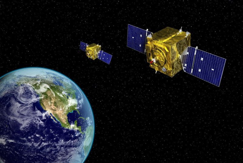 Artist rendering of satellites in the Geosynchronous Space Situational Awareness Program. Photo: U.S. Air Force