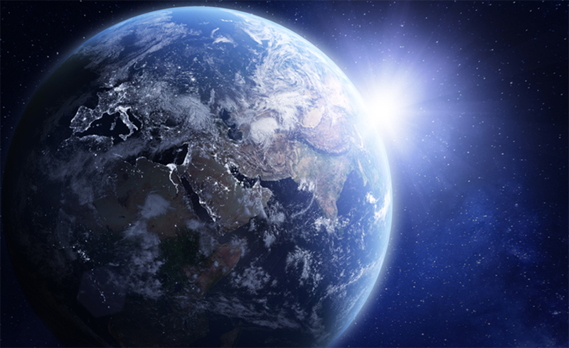 3D render of planet Earth viewed from space. Photo: NASA