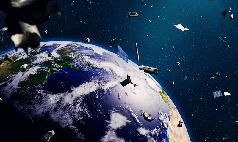 Artist rendition of space debris. Photo: Mashable India