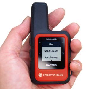 An EVERYWHERE Communications' inReach Mini device. Photo: EVERYWHERE Communications